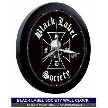 Black Label Society Logo Black Clock