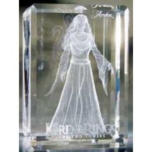 Lord Of The Rings Arwen Big 3d Crystal Glass Paperweight