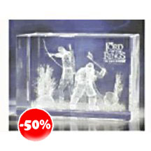 Lord Of The Rings Legolas And Gimli 3d Crystal Glass