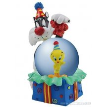 Looney Tunes Tweety And Sylvester Birthday Surprise Water Globe Statue