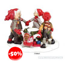 Gardsnisser Dancing Gnomes With Candle Holder Statue